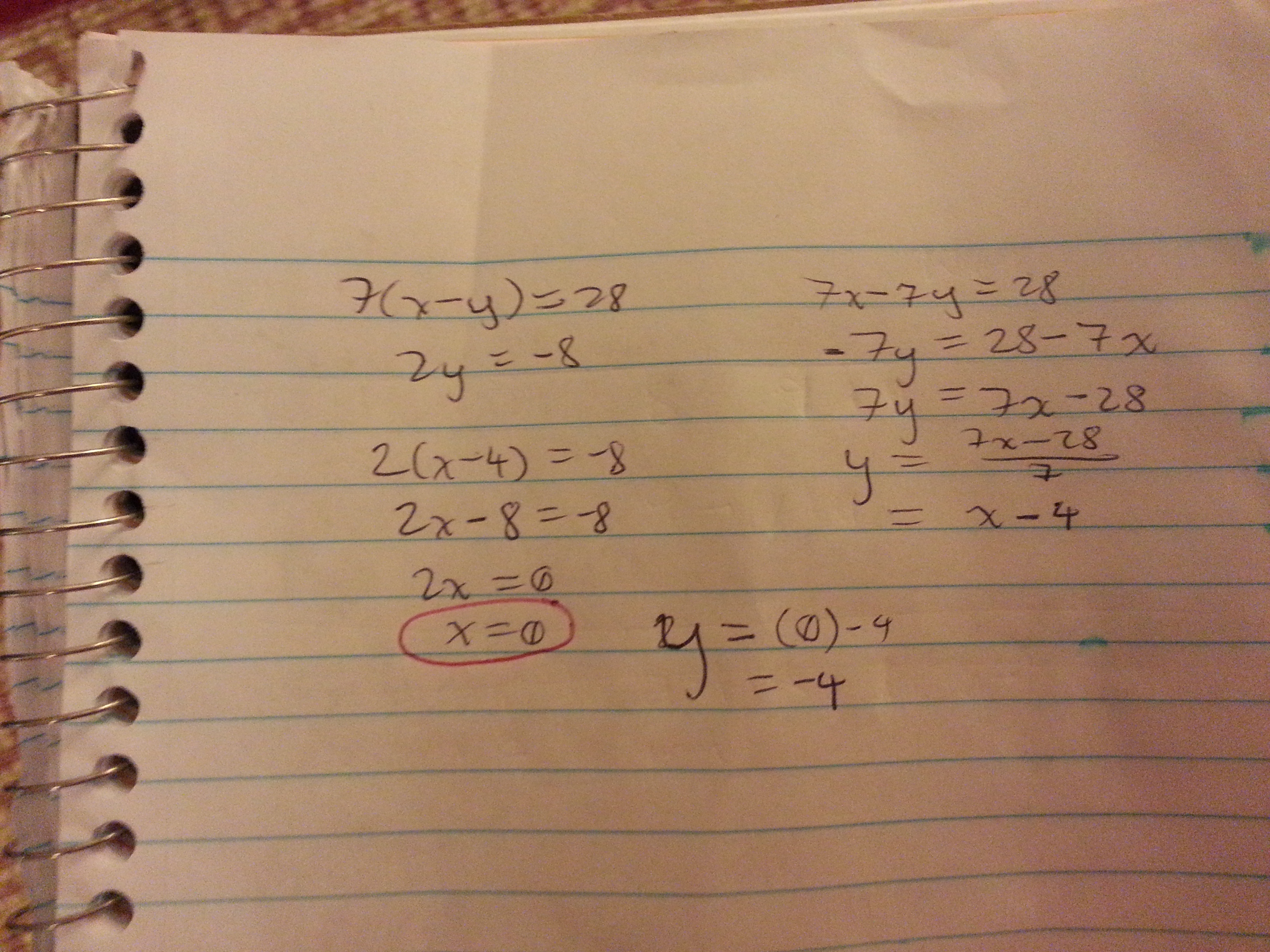 Mathematical Solution
